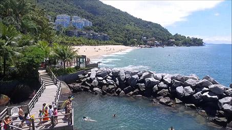 Piscina natural do Porto Real Resort em Mangaratiba